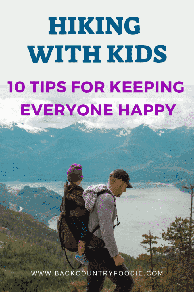 Are you an adventure seeking parent? Do you love to explore the outdoors and want your kids to do the same? Kids are naturally very curious creatures. Here are ten tips for hiking with happy kids. #hikingwithkids #backcountryfoodie