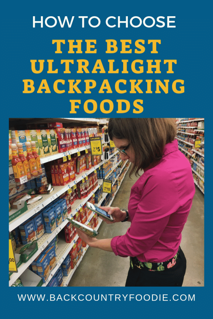 Have you ever felt overwhelmed trying to decide how much food to pack for your hiking or backpacking trips? Is the weight of the food a concern? This post, written by a dietitian, will provide tips on how to determine which foods are the best ultralight options. By maximizing the nutrition put into your body, those challenging hikes will be easier and more enjoyable. #ultralightbackpacking #ultralightbackpackingwomen #hikingfood #backpackingmeals #backcountryfoodie
