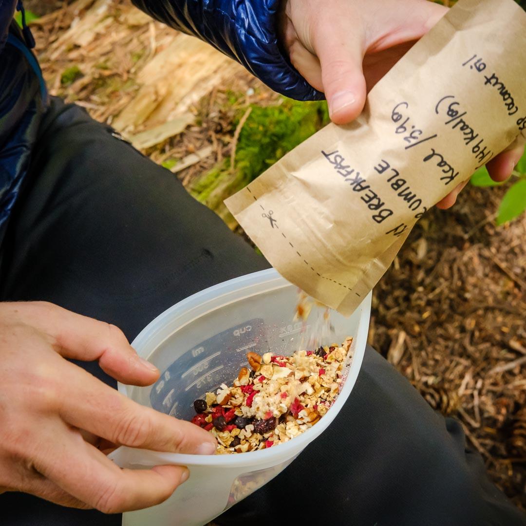 Breakfast Recipe in Compostable Bag
