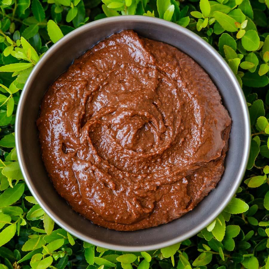 brownie batter hummus backcountry foodie backpacking recipe