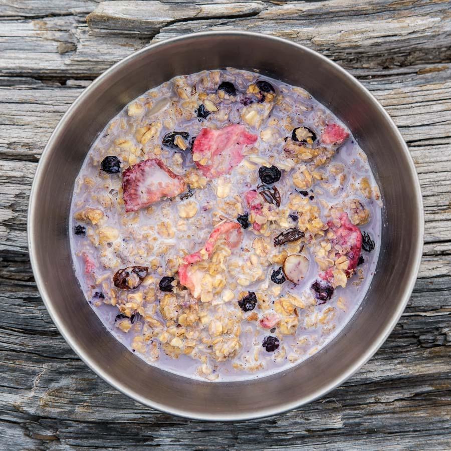 Granola with Milk and Berries Recipe