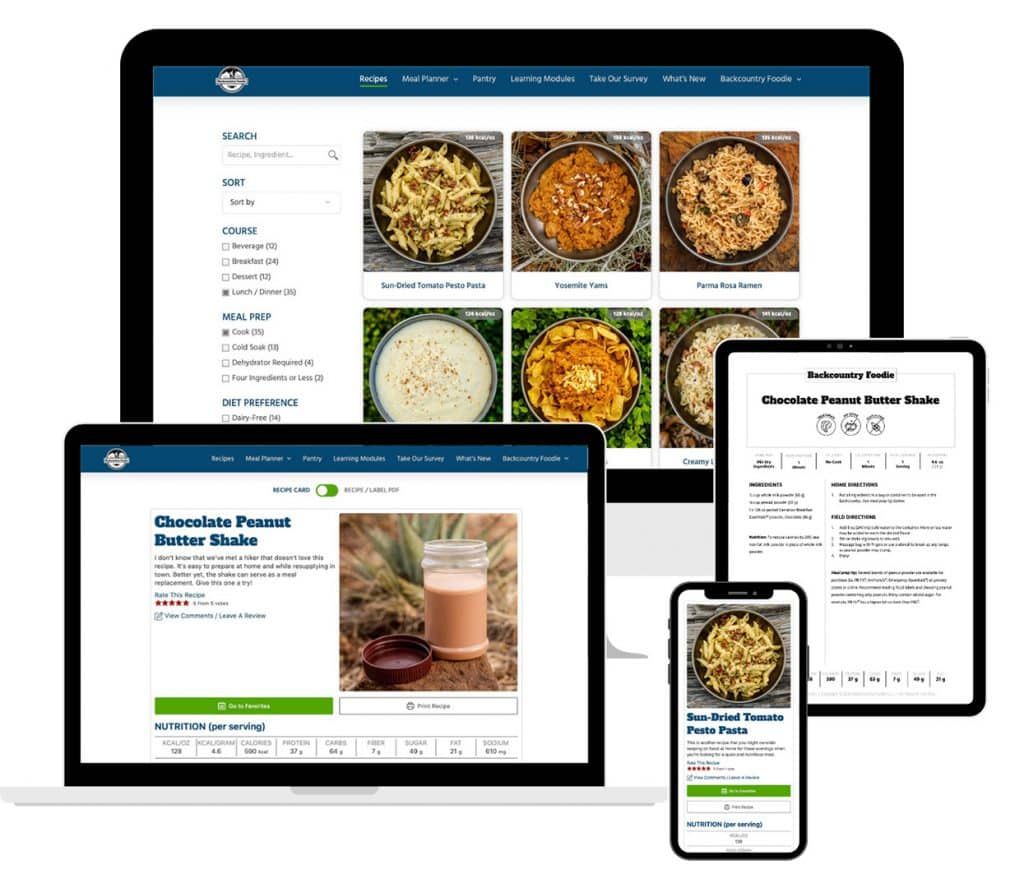 Recipe Dashboard with Search & Filters, Sample Recipe Card and PDF