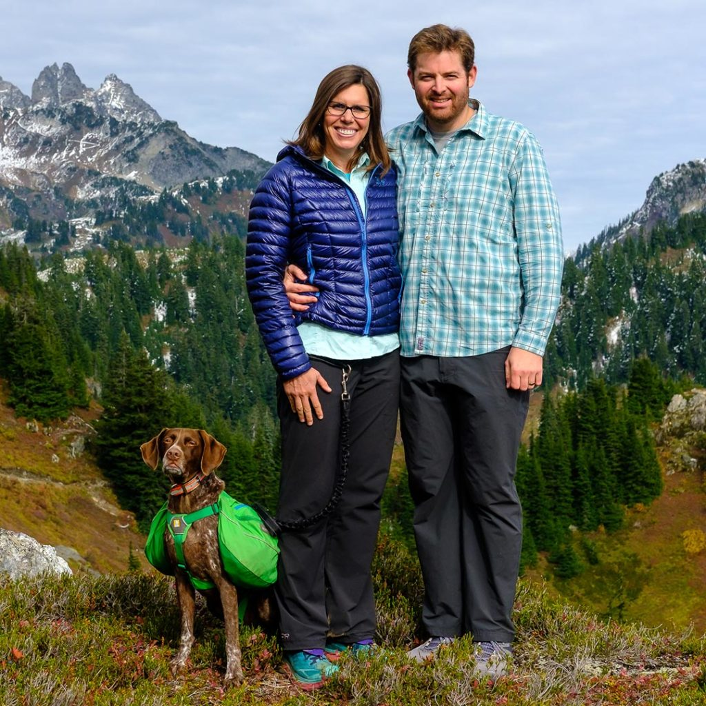Chris Aaron & Ella on Yellow Aster Butte